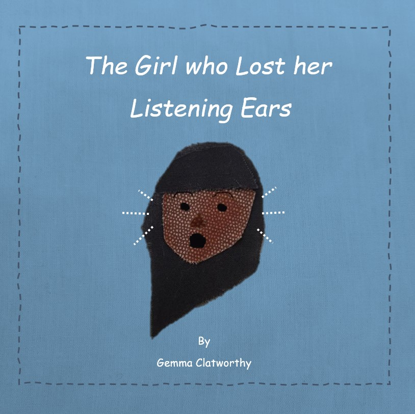 blue cover with girl who has lost her ears