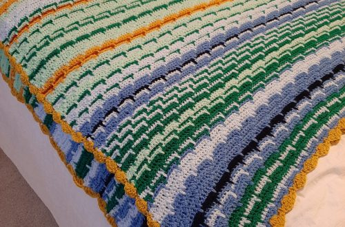 Crochet temperature blanket