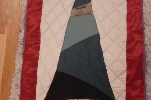 fabric christmas tree wall hanging