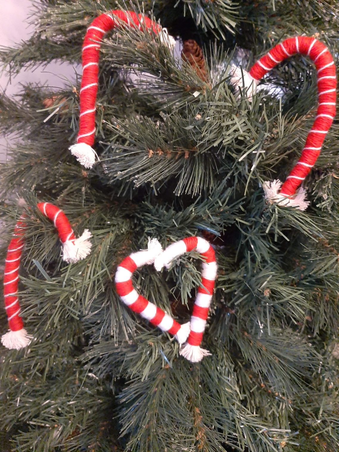 red and white rope candy canes